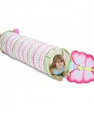 Roze vlinder speeltunnel 144 cm