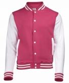 Roze wit jacket met drukknopen