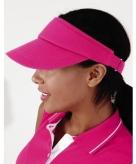 Roze zonneklep voor hardlopers
