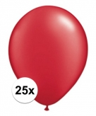 Ruby rode qualatex ballonnen 25 stuks