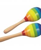 Sambaballen regenboog van hout
