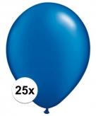 Sapphire blauwe qualatex ballonnen 25 stuks