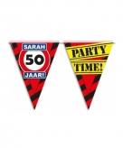 Sarah 50 jaar feest slingers 10 meter