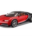 Schaalmodel bugatti chiron 1 18 rood