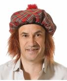 Schotse verkleedmuts met haar