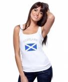 Schotse vlag tanktop t-shirt voor dames