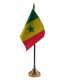 Senegal versiering tafelvlag 10 x 15 cm