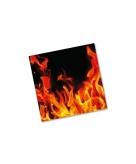 Servetjes met vlammen 20 stuks