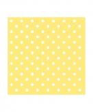Servetten gele witte stippen 3 laags 20 stuks