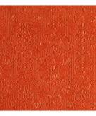 Servetten oranje met decoratie 3 laags 15 stuks