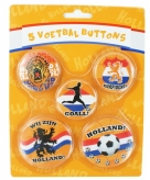 Set van 5 holland buttons
