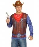 Sheriff shirt verkleedoutfit