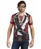 Shirt met piraat opdruk
