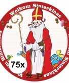 Sinterklaas thema onderzetters 75 stuks