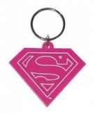 Sleutelhanger supergirl schild roze