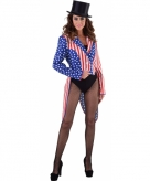 Slipjassen amerika stars and stripes voor dames
