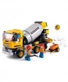 Sluban bouwsteentjes cementwagen