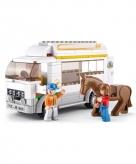 Sluban paardentransport bouwstenen set