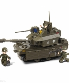 Sluban schaalmodel tank met groot kanon 33 x 23 7 x 5 4 cm
