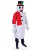 Sneeuwpop verkleedkleding voor volwassenen
