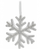 Sneeuwvlok hanger met steentjes 25 cm