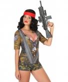 Soldaat-shirt verkleedoutfit voor dames