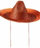 Sombrero in oranje kleur 48 cm