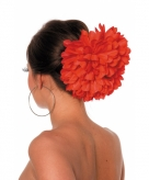 Spaanse flamenco bloem klem rood