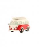 Spaarpot volkswagen t1 bus rood