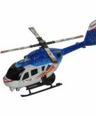 Speel helikopter blauw 21 cm