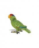 Speeldier groene amazone papegaai 7 cm