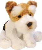 Speelgoed knuffel pluche hond fox terrier 13 cm