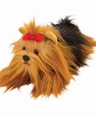 Speelgoed knuffel pluche yorkshire terrier 33 cm