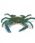 Speelgoed nep blauwe zwemkrab 18 cm