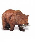 Speelgoed nep gizzly beer bruin 8 cm
