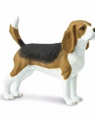 Speelgoed nep tricolor beagle hond 6 cm