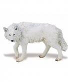 Speelgoed nep witte wolf 9 cm