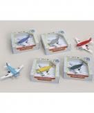 Speelgoed vliegtuigjes lichtblauw 15 cm