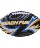 Speelgoed zwarte rugbybal voor op het strand