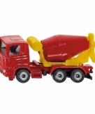Speelgoedauto siku cement mixer 8 cm