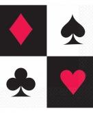 Speelkaart servetten 16 stuks