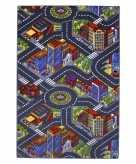 Speelkleed stad met wegen 100 x 165 cm