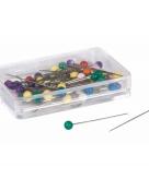 Spelden met gekleurde knop bont 50 stuks