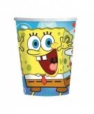 Spongebob papieren verjaardag bekers 8 stuks