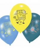 Spongebob squarepants verjaardags balonnen 6 stuks