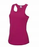 Sportkleding sneldrogend fuchsia dames hemd