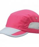 Sportpet fuchsia roze grijs voor volwassenen
