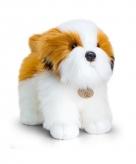 Staande pluche shih tzu hond knuffeldier 40cm