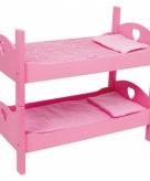 Stapelbed voor poppen roze 51 cm