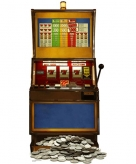 Star cut out fruit machine